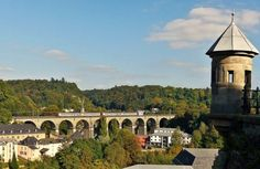 CFL 2000 series on Pfaffenthal bridge - A classic view from the upper town into the valley