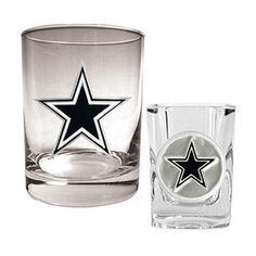 NFL  Dallas Cowboys Rocks Glass and Shot Glass Set