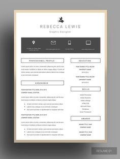 Free Modern Resume Templates  Psd Mockups  Freebies  Graphic