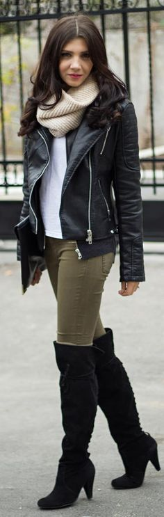 Over the knee boots http://themysteriousgirl.ro/2013/11/over-the-knee-boots/