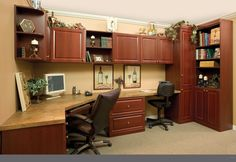 More Space Place Custom Home Office for Two!