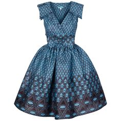 100% Cotton Handmade in Ghana This garment has been styled with the Sika 50's Style Petticoat which can also be purchased on Sika Online Bout...
