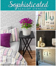 Scallops Stencils by Royal Design Studio | Paint and Pattern