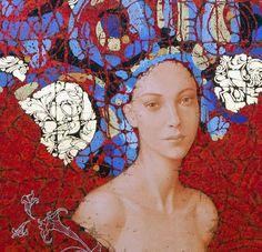 Traditional Paintings, Contemporary Paintings, Portrait Art, Portraits, Klimt Art, People Art, Beautiful Paintings, Figure Painting, Figurative Art