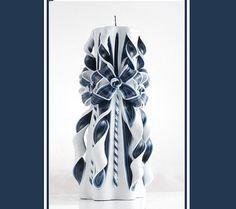 Blauwe Candle  gesneden van de Gift van de verjaardag van de