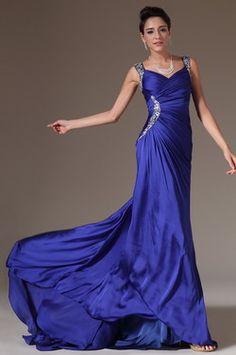 eDressit 2014 New Beaded Straps Chapel Train Prom Dress (00144305) - USD 211.22