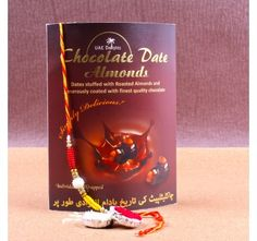 Rakhi Gift of Box of Chocolates Dates Almonds
