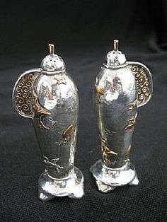 Tiffany & Co sterling silver and mixed metal salt & pepper shakers…