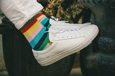Common Projects Sneakers // #shoes http://ny.racked.com/2015/6/8/8744369/steven-alan-office-tour?utm_medium=social&utm_source=pinterest&utm_campaign=racked