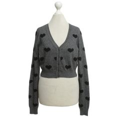Pre-owned Bolero jacket in black / grey (74 CAD) ❤ liked on Polyvore featuring outerwear, jackets, black, long sleeve bolero jacket, gray bolero, long sleeve jacket, short bolero jacket and long sleeve bolero