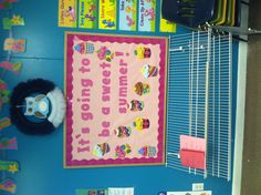 Sweet summer bulletin board!