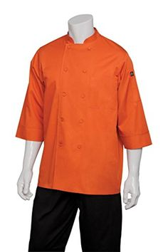 Chef Works Mens Essential 34 Sleeve Chef Coat JLCL * Details can be found by clicking on the image.Note:It is affiliate link to Amazon.