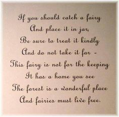 Faeries - If you should catch a fairy and place it in a jar ...