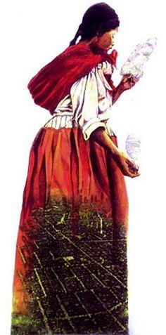"Francisco Letelier  Nuestra Senora de Los Angeles  mixed media 40""x60""  A tribute to working women in Los Angeles"