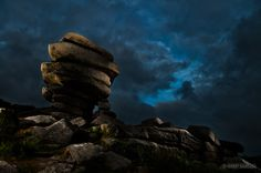 The Cheesewring, a granite tor on Bodmin Moor in Cornwall.