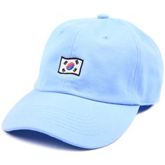 Cast Shadow Korea Low Profile Sports Cap - Blue ($24) ❤ liked on Polyvore featuring men's fashion, men's accessories and men's hats