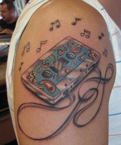 Old school Cassette Tape Tattoo By: Khoi Nguyen ....I luv it!!!