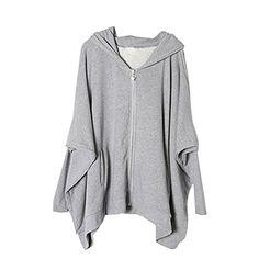 Etosell Womens Oversized Jacket Batwing Sleeve Sweater Zipper Hooded Coat Outwear Etosell http://www.amazon.com/dp/B00MFDGRLQ/ref=cm_sw_r_pi_dp_MMWpvb19D1ZAP