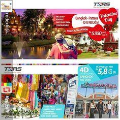 Repost @rodexkita .  Special Romantic Holiday 4D Bangkok-Pattaya 12-15 Februari 2016 all in IDR 5.950.000  Flight Surabaya - Bangkok By AirAsia  Bonus Alcazar Show and look forward to other exciting surprises..  . . Grand Shopping 4D Bangkok-Pattaya 19-22 Februari 2016 all in IDR 5.800.000   Flight Surabaya - Bangkok By AirAsia  Grand Palace shopping and many more . . VERY LIMITED SEAT BOOK NOW More info at RODEX KITA TOUR & TRAVEL Ruko Grand City Regency Jl. Rungkut Mutiara B-22 Surabaya…