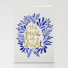 The Future is Bright – Navy & Gold Stationery Cards