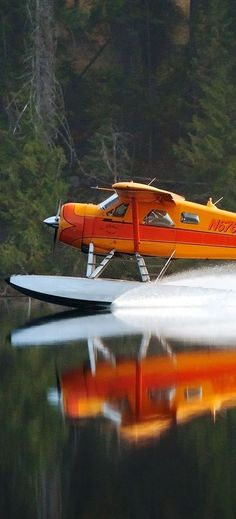 Go Online and Stop Paying More for Airport Parking Than Your Plane Ticket. Bush Plane, Float Plane, Flying Boat, Aircraft Pictures, Aviation Art, World Of Color, Canada, Adventure, Airplanes