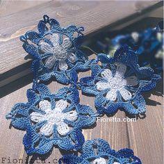 Butterfly Dance crochet motif