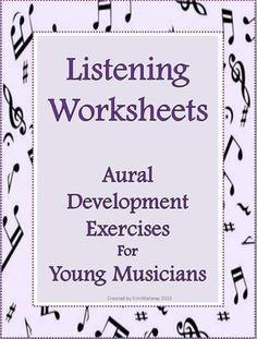 An ANSWER sheet is… Music Classroom, Classroom Ideas, Music Teachers, Music Journal, Music Lessons For Kids, Listening Skills, Listening Activities, Middle School Music, Music Worksheets