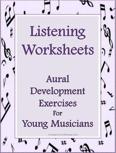 FOURTEEN aural discrimination (listening skill) worksheets. An ANSWER sheet is supplied for each worksheet. $