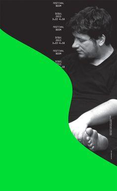 Poster for Festival Bo:m 2013 by korean duo Sulki & Min Book Design, Layout Design, Design Art, Graphic Design Typography, Graphic Design Illustration, Branding, Design Observer, Alphabet Design, Poster Layout