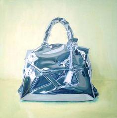 "Saatchi Art Artist Gemma Gené; Painting, ""wrapped purse"" #art"