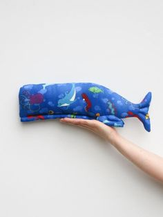 Stuffed whale toy plush softie big #whale #toy #tilda #tildawhale #softie #plush #stuffedwhale #nautical by #HappyDollsByLesya