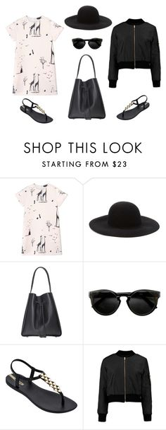 """A Day at the Zoo"" by lynnbin on Polyvore featuring Rochas, Forever 21, IPANEMA, bomberjacket, giraffe and bomber"
