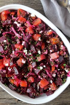 This French Lentil & Beet Salad pairs sweet, savoury and salty flavours to make an incredible salad that is perfect for any summer party of BBQ. Lentil Salad Recipes, Lentil Meals, Smoothie Recipes, Raw Beets, French Lentils, Healthy Recipes, French Vegetarian Recipes, French Salad Recipes, Meatless Recipes
