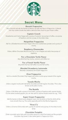 Starbucks secret recipes