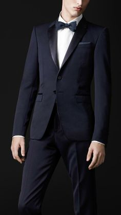 Burberry Satin Lapel Tuxedo Jacket