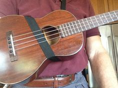 I recently found a really great strap that allows players of vintage ukuleles to avoid drilling holes in their instruments. It's the Mobius Strap designed and marketed by Tim Mullins. But...