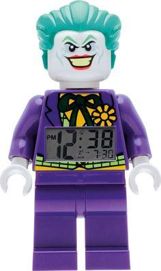 UK LOWEST ONLINE PRICE Lego Heroes Joker Figure Alarm Clock NOW £14.99 FREE DELIVERY