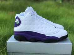 Air Jordan 13 Los Angeles Lakers Gold Color Combination, Purple Suede, Jordan 13, Los Angeles Lakers, Gold Style, White Leather, Air Jordans, Nike, Retro