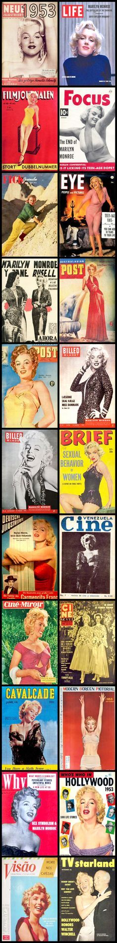 1953 magazine covers of Marilyn Monroe .... #marilynmonroe #normajeane #vintagemagazine #pinup #iconic #raremagazine #magazinecover #hollywoodactress