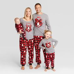 1c25a48641 Holiday Bear Family Pajamas Collection Family Pjs