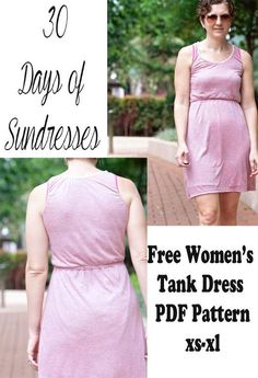 (9) Name: 'Sewing : Women's Tank Dress Free Pattern