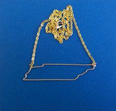 Tennessee State Necklace. $35.00, via Etsy.