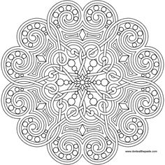 Tons of designs! ~A heart mandala to print and color- also available in jpg format