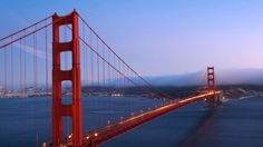 The Golden Gate Bridge connects San Francisco to scenic Marin County, located north of the city across the Golden Gate Strait.