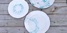 Painted Plate – Upcycling Vintage Crockery with a Doily