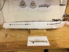 Modell 3D-printet (120cm) Small Boats, Desk, 3d, Furniture, Home Decor, Scale Model, Desktop, Decoration Home, Room Decor