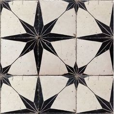 black and whites tiles + stars