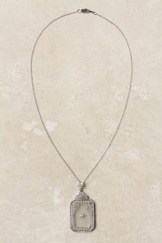 Diamond Pendant Necklace, Frosted - StyleSays