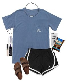 lazy day by gabyleoni on Polyvore featuring polyvore, fashion, style, Birkenstock, Casetify, Urban Decay, MILK MAKEUP, Revlon, NIKE and clothing