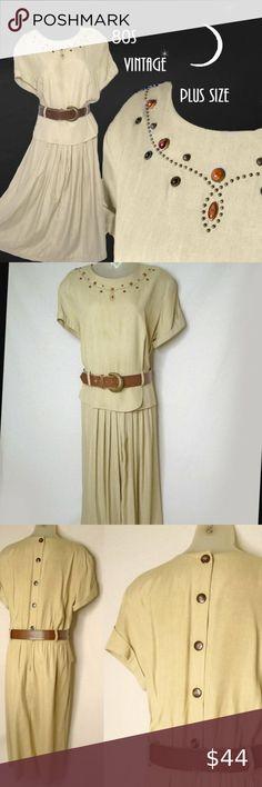 I just added this listing on Poshmark: Plus Size Vintage Jeweled Midi Dress. Plus Size Vintage, Boho Look, Plus Fashion, Fashion Tips, Fashion Trends, Vintage Dresses, Peplum, Two Piece Skirt Set, Leather